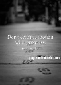 Don't Confuse Motion with Progress