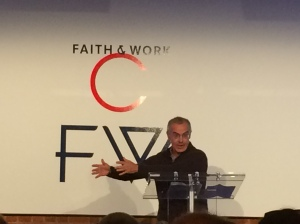 David Brooks, speaking at the Center for Faith & Work conference.