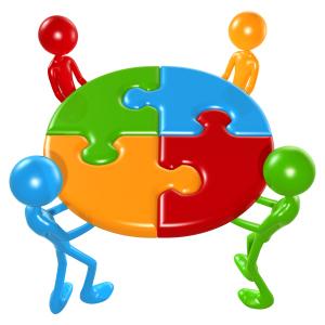Working Together Teamwork Puzzle Concept, Scott Maxwell, Flickr